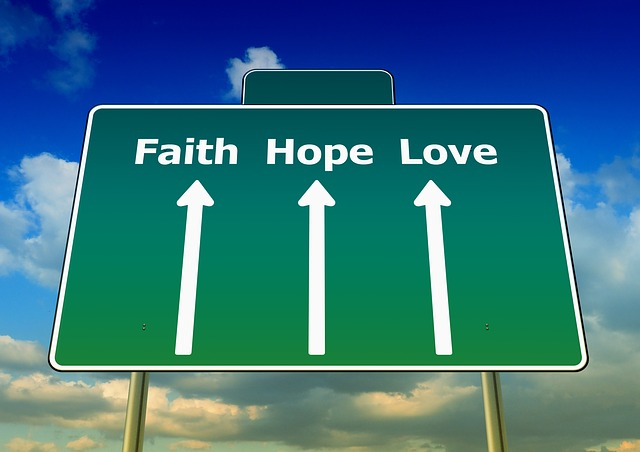 faith hope love look up